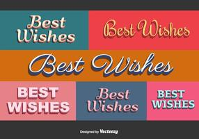 Best Wishes Vector Cards