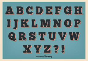 Set di alfabeto stile retrò