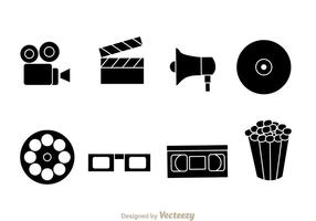 Zwarte Film Vector Pictogrammen