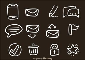 Handgetekende SMS Vector Pictogrammen