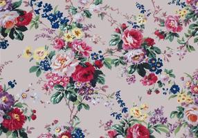 Hermosa cosecha rosas textil vector de fondo
