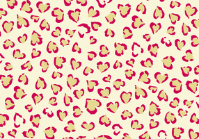 Leopard Print With Hearts Vector Background