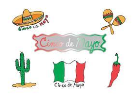 Free Cinco de Mayo Serie de vectores de imágenes prediseñadas