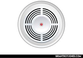 Vector de humo de alarma