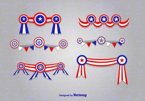 President's Day Ribbons vector