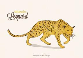 Free Vector Watercolor Leopard Illustration