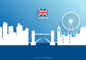 Papel de recorte de vectores gratis London Cityscape