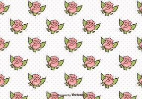 Vector libre retro rosas de fondo