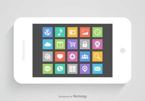 Ícones de vetor de aplicativos móveis gratuitos