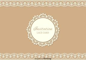 Gratis Lace Vector Card