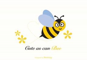 Free Cute As Can Bee Vector Illustration