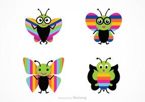 Free Cartoon Butterfly Vector Set