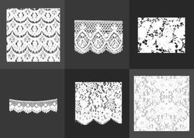 Vectores de textura de encaje