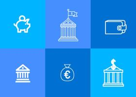 Bank Pictogram Vectors