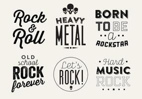 Typografische Vector Achtergrond Van Rock Music