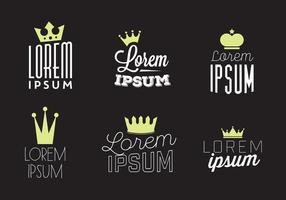 Typographic Vector Background with Crown Logo