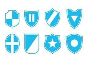 Scudo Set di icone vettoriali