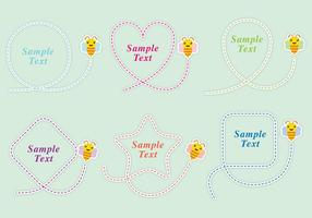 Cute Bee Shapes vector