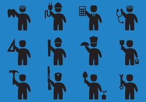 Vetores do ícone da profissão