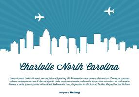 Charlotte carolina skyline llustration