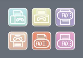 Vetores de ícones de fax