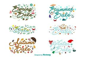 Seasonal Sales Calligraphic Signs