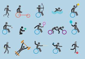 Paralympic Sport Icon Vectors