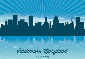 Baltimore Maryland Skyline Illustration
