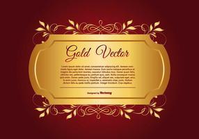 Oro elegante y ilustración de fondo rojo