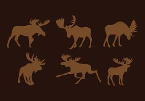 Moose Silhouette Vector Pack
