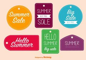 Seasonal Sale Stitched Tags vector