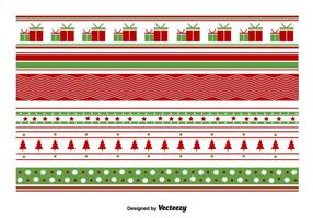 Geometrical Christmas Patterns vector