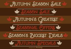 Autumn Season Sale Labels vector
