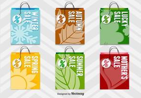 Seasonal 3D Shopping Bags vector