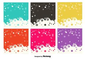 Snowflakes colourful backgrounds vector