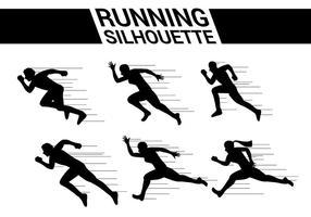 Laufen Silhouette Vektoren
