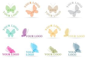 Schmetterling Logo Vektoren