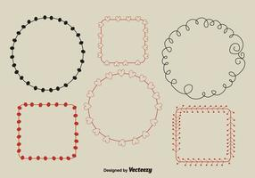 Minimal Hand-Drawn Wreaths vector