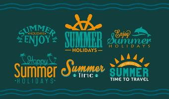 Summer Holidays Lettering vector