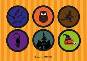 De gelukkige Stickers van Halloween