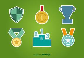 First Place Flat Icons