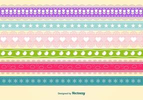 Estacional Colourful seamless ribbons vector