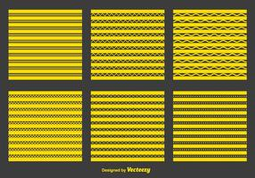 Yellow Zigzag and Geometric Patterns vector