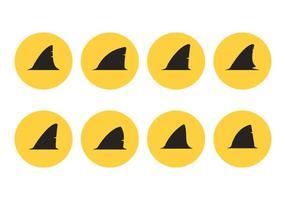 Vecteurs de silhouette de requin-requin