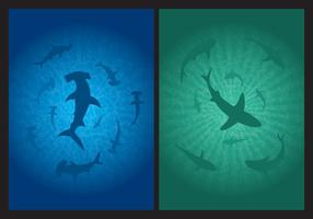 Vettori di sfondo squalo
