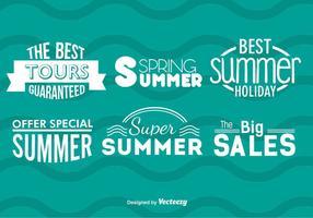 Emblemas de venda de verão