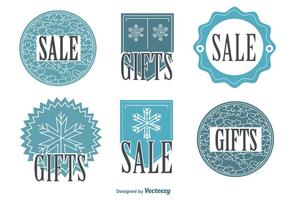 Snowflake Winter Sale Tags vector