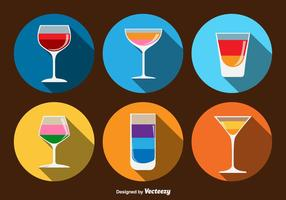 Cocktails Beverage Icons vector
