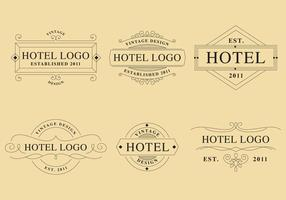 Logotipos lineales hotel vector