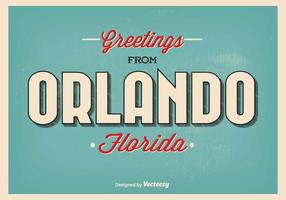 Orlando florida greeting illustration